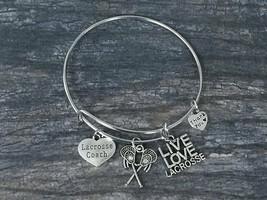 Lacrosse Coach Bracelet - Lacrosse Jewelry for Coaches - Lacrosse Charm ... - $15.00
