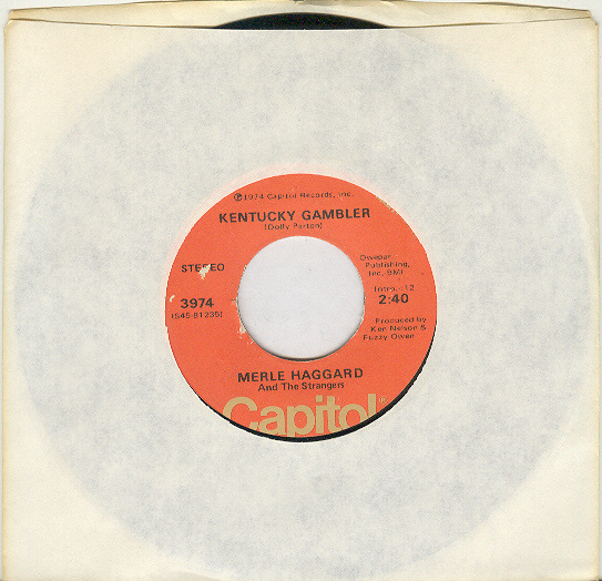 Primary image for MERLE HAGGARD  45rpm Kentucky Gambler