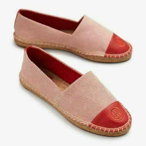 Tory Burch Women Espadrille Flats Block Color Flat Size US 10.5 Rusty Knot - $135.00