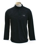 Under Armour UA Threadborne Black & Graphite Seamless 1/4 Zip Shirt Men's NWT - $59.99