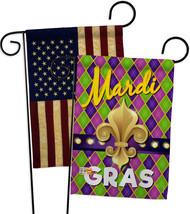 Mardi Gras Fleur De Lys - Impressions Decorative USA Vintage - Applique Garden F - $30.97