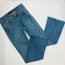 Levis Womens Superlow Jeans  518 Size 1 26x38 Embellished Flair Blue De... - $36.09