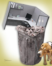 Unique New Beginnings Retirement Card: Cubicle Waste - $5.00