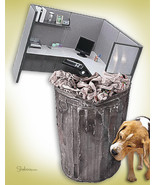 Unique New Beginnings Retirement Card: Cubicle Waste - $4.25