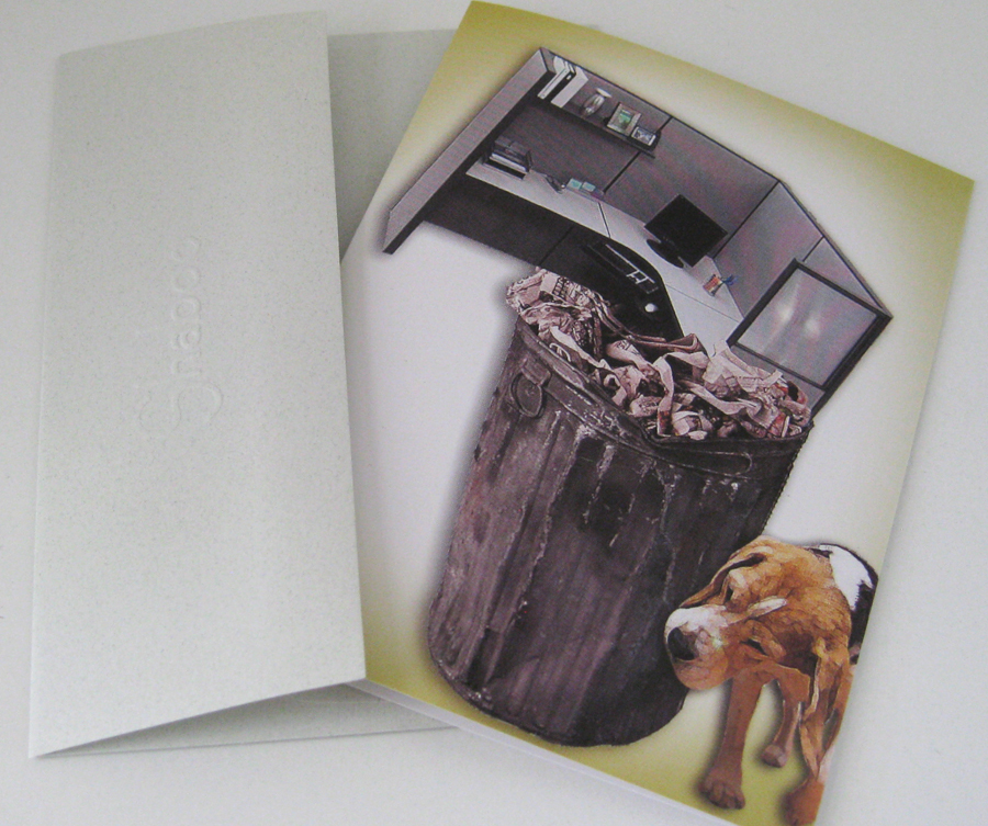 Unique New Beginnings Retirement Card: Cubicle Waste