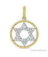 0.11 ct Round Cut Diamond Star of David Magen Pendant 14k Gold Judaica N... - $225.00