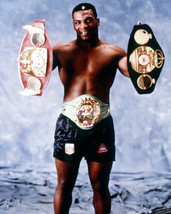 Mike Tyson Heavyweight Belts Vintage 8X10 Color Boxing Memorabilia Photo - $6.99