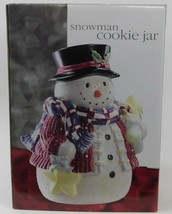 Snowman Cookie Jar New In Box Christmas Winter Holiday 37091.01 - $44.55