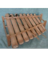 Large Vintage Handmade Bamboo Xylophone Eight Different Tones Two Playin... - $128.65