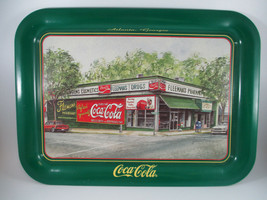 Coca-Cola Tin Tray Fleeman's Jeanne Mack Signed Atlanta Issued 1996 - $17.33