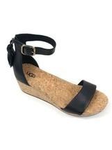 UGG Australia Women's Zoe Black Tassel Open Toe Wedge Sandal 1019973 Cas... - £79.08 GBP