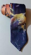 NEW VINTAGE 90's RALPH MARLIN NECKTIE Painted Bears NWOT SLIM - $21.03