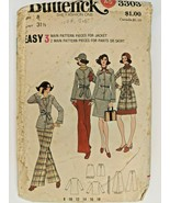 Vintage Butterick All Sizes Sewing Pattern 3303 Womens Jacket Skirt & Pa... - $9.70