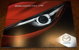 2014 Mazda Full Line Brochure 32 Pages Plus Foldouts Free Shipping - $5.75