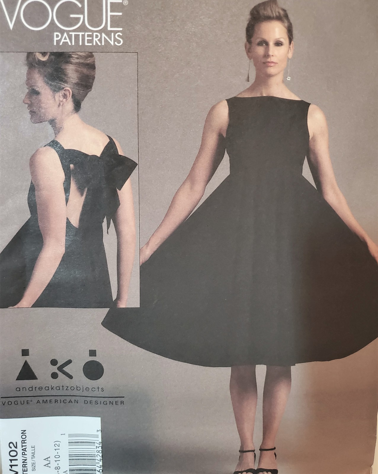 Primary image for Vogue Pattern 1102 Andrea Katz, Misses Dress