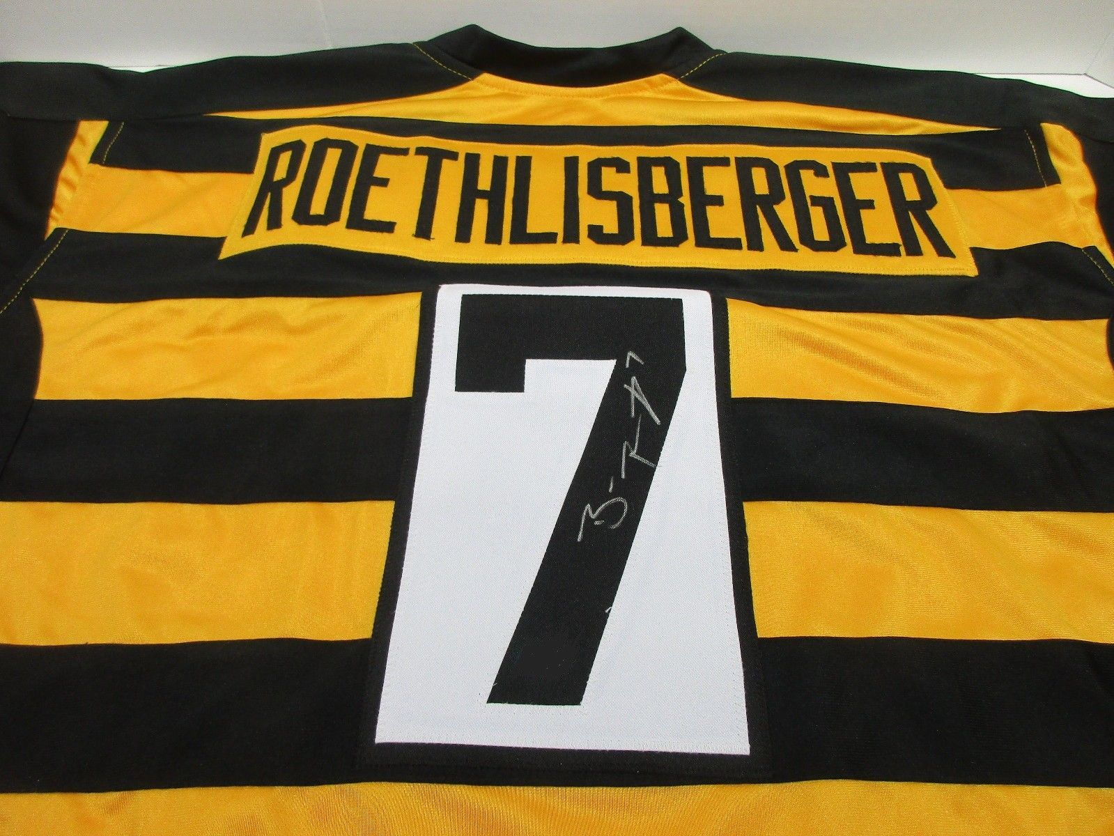 b8c1397c986 ... spain ben roethlisberger pittsburgh steelers hand signed bumble bee  jersey coa 5f3a4 b211f