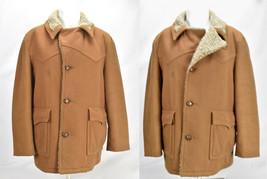 Vtg Woolrich Wool Coat Jacket Mens Sherpa Lined Western Sz 42 L - $123.70
