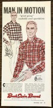 1957 Buck Skein Men's Sport Fashions 5th Ave NYC Print Ad Man in Motion ... - $10.34