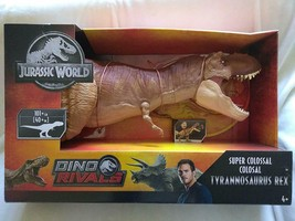 Dino Rivals Jurassic World Super Colossal Lifelike T-Rex Swallows 26 Min... - $247.49