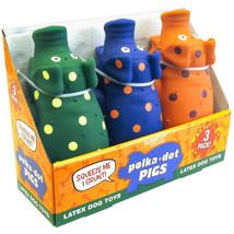 Multipet Polka-Dot Pigs Latex Dog Toys (3 pk.) - £17.10 GBP