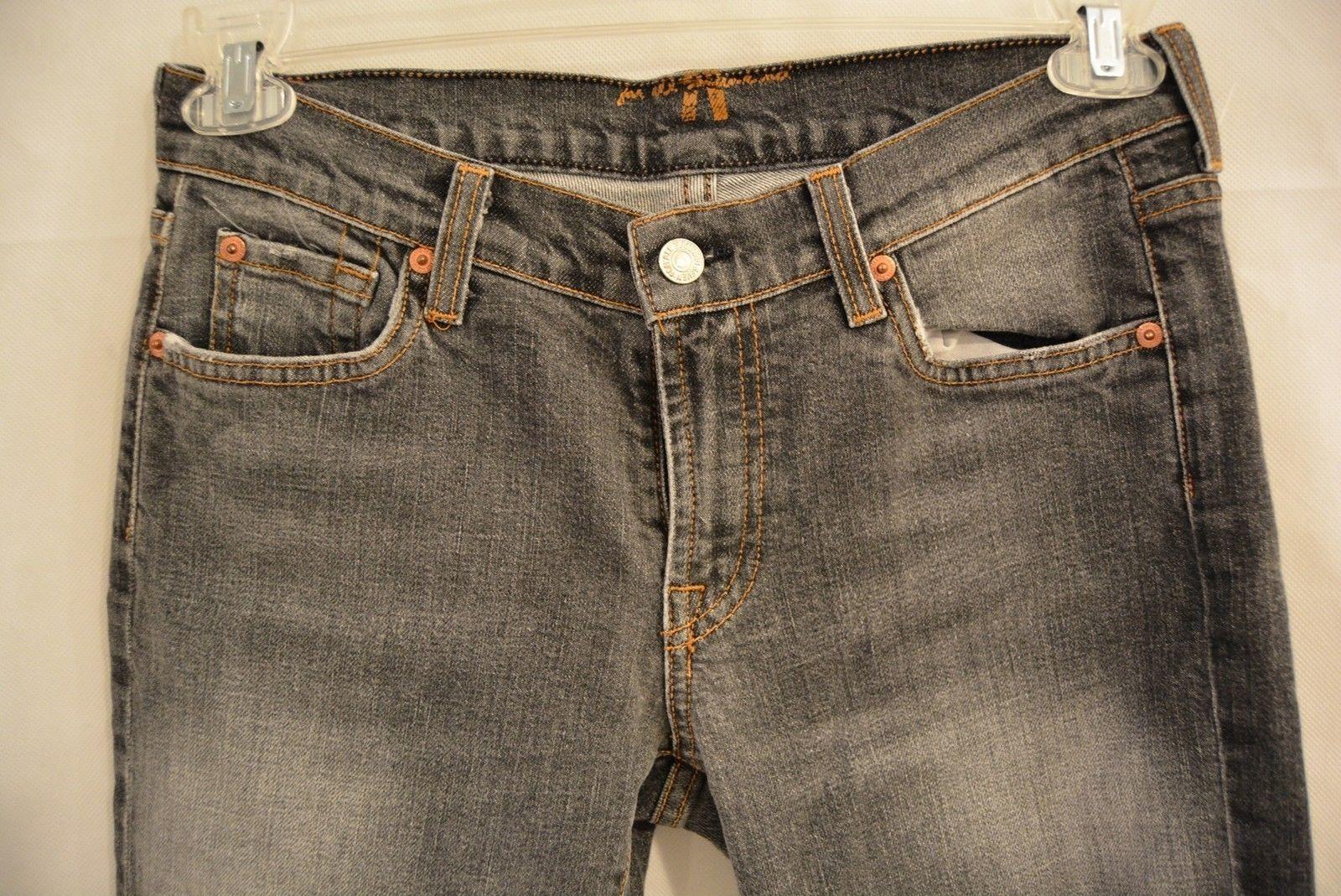 Women's 7 For All Mankind Grey Denim Boot-Cut 30 Short