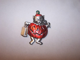 Halloween JJ Pin Limited Edition Handpainted Pewter Trick-or-Treat Cat B... - $8.38