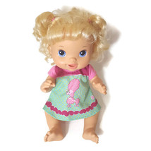 2011 Hasbro Baby Alive Beautiful Now Baby Doll Blonde Pink Poodle Dress - $12.99