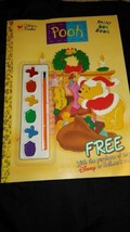 90s Golden Books Paintbox Pooh Christmas Hallmark Card Special Giveaway Book - $12.86