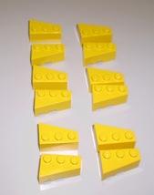 12 Used Lego 2 x 3 Yellow Triangular Wedges Slope Brick 6564 - 6565 - $5.25