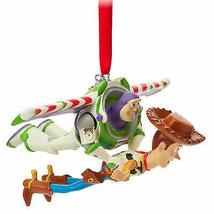 Disney Buzz Lightyear & Woody Christmas Ornament Toy Story New In Box Sk... - $56.08