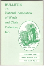 February 1980 Issue of NAWCC Watch and Clock Collectors magazine - $12.80