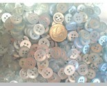 Auction 528 button ice blue 38 4hole stock photo thumb155 crop