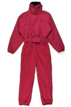 Vtg 90s Boulder Gear Red Ski Jumpsuit One Piece Snow Suit Coveralls Wome... - $38.60
