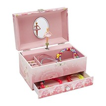 Jewelkeeper Music Jewelry Box with Pullout Drawer, Jewel Storage Case, Swan - $28.44