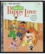 ORIGINAL Vintage 1983 Sesame Street Puppy Love Bert Ernie Golden Book   - $13.99
