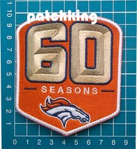 "2019 Denver Broncos 60th Anniversary 3.9"" patch jersey NFL Football embr... - $14.99"