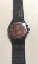 Skagen Women Brown Milanese Metal Steel Mesh Watch- not working needs ba... - $39.60