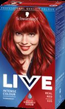 Schwarzkopf Live PERMANENT Hair Dye Hair Colour Bright REAL RED 35 SHINE... - $15.89