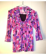Candie's multi colored girls top Size Large ruffle at sleeve - $12.99