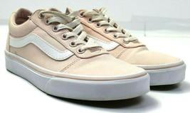 Vans Old Skool Women's Pink White Low Top Sneakers Athletic Shoes Sz 7  - $34.64