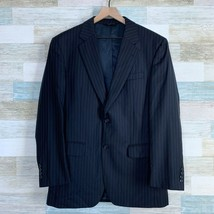 Jos A Bank Wool Pinstripe Suit Blue Two Button Vented Pleated Mens Size ... - $108.89