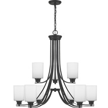 Pruitt 9-Light Chandelier in Matte Black - $759.99