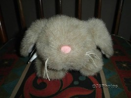 Bearington Collection Bunny Rabbit Plush Retired 9.5 inch Blue Satin Ribbon - $86.85