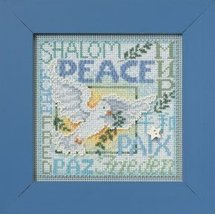 World Peace 2012 Winter Series beaded button kit Mill Hill - $11.70