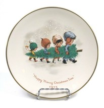 "Vintage 1975 ""Happy Merry Christmas Tree"" Fran Mar Moppets 8.5"" Plate by... - $9.79"