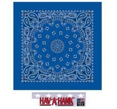 USA Gemacht Hav-A-Hank Königsblau Paisley Kopftuch Bandana Schal Schal S... - $5.99