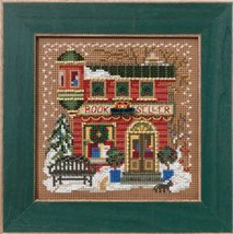 Book Seller 2012 Winter Series beaded button kit Mill Hill - $11.70