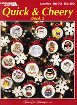 Cross Stitch Quick & Cheery BK.2 Christmas Ornaments - $3.50