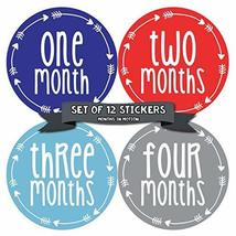 Baby Month Stickers by Months In Motion | 12 Monthly Milestone Stickers ... - $10.95