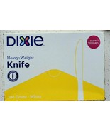 NEW Dixie Heavy-Weight Knife, Plastic,  White, 100 Knives in Box KH207  - $15.10